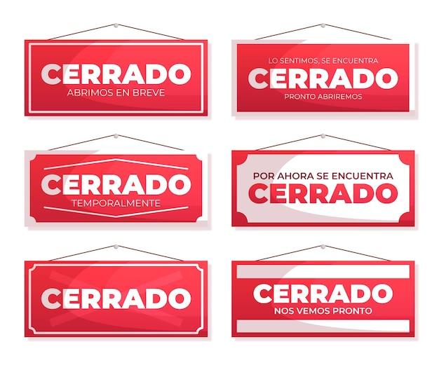 Cerrado uithangbordcollectie in plat ontwerp