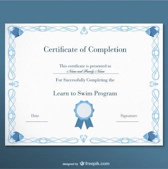 Certificaat gratis sjabloon