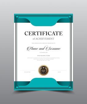 Certificaat lay-out sjabloonontwerp, luxe en moderne stijl, vectorillustratiekunstwerk.