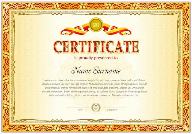 Certificaat leeg sjabloon.