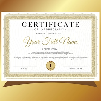 Certificaat of sjabloon