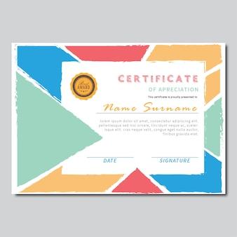 Certificaat pop kleur achtergrond