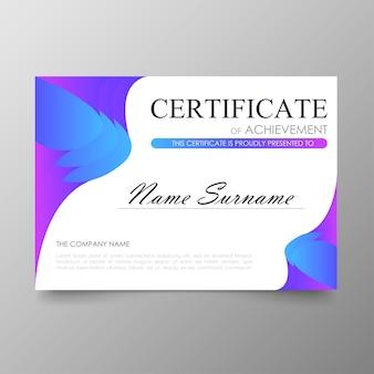 Certificaat premium sjabloon awards diploma achtergrondwaarde en luxe lay-out.