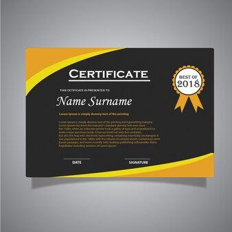 Certificaat sjabloon ontwerp