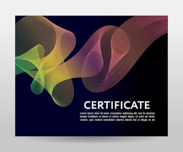Certificaat. sjabloondiploma's, valuta. verloop frame