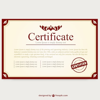 Certificaat template lay-out