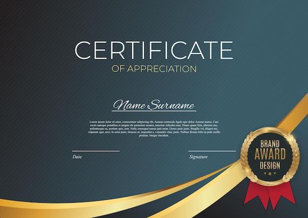 Certificaat van prestatie-sjabloon