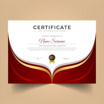 Certificaat van prestatie sjabloon