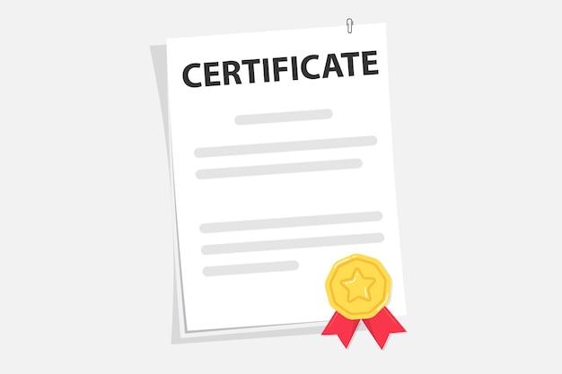Certificaat van universiteit, hogeschool of school afgestudeerde alumni succes en voltooiing van de cursus. afstuderen test blanco. award, subsidie, diploma concepten. document. diploma papieren rol met stempel