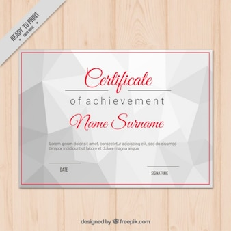 Certificaat van voltooiing met geometrische vormen