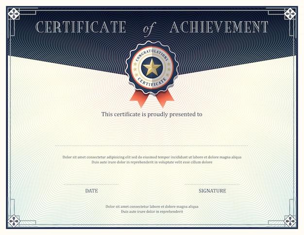 Certificaat van voltooiing ontwerpsjabloon
