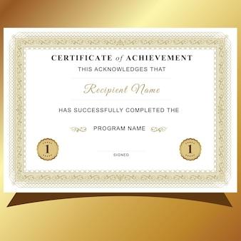Certificaat van voltooiing Premium Vector