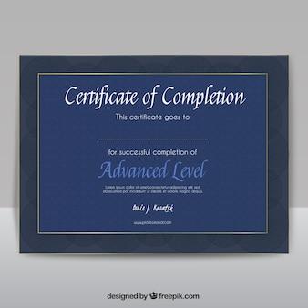 Certificaat van voltooiing Gratis Vector