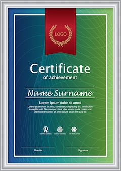 Certificaat van waardering award sjabloon.