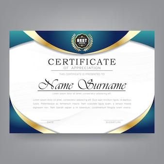 Certificaat van waardering moderne sjabloon