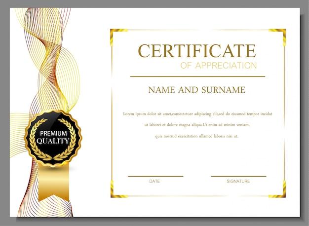 Certificaat van waardering ontwerp
