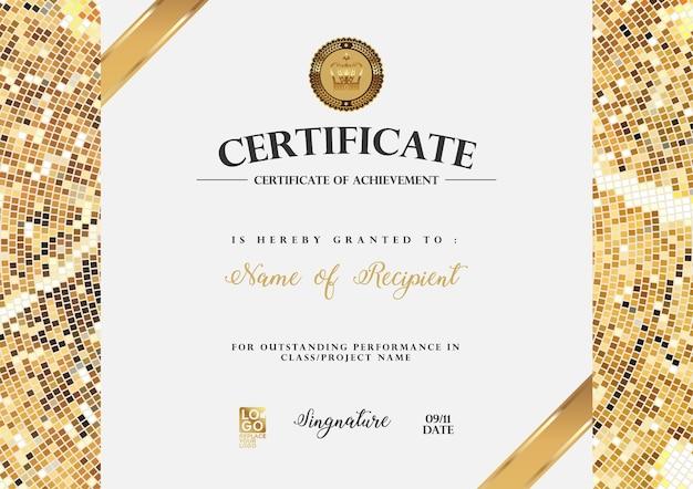 Certificaat vector luxe sjabloon.