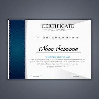 Certificaat voor prestatie sjabloon