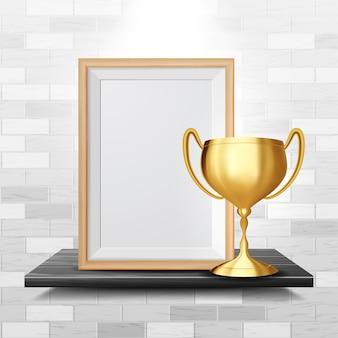 Certificaatdiploma met gouden beker