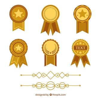 Certificaatelementen verzamelen in vlakke stijl