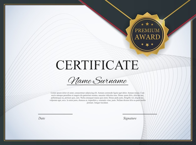 Certificaatsjabloon achtergrond. award diploma ontwerp leeg. illustratie