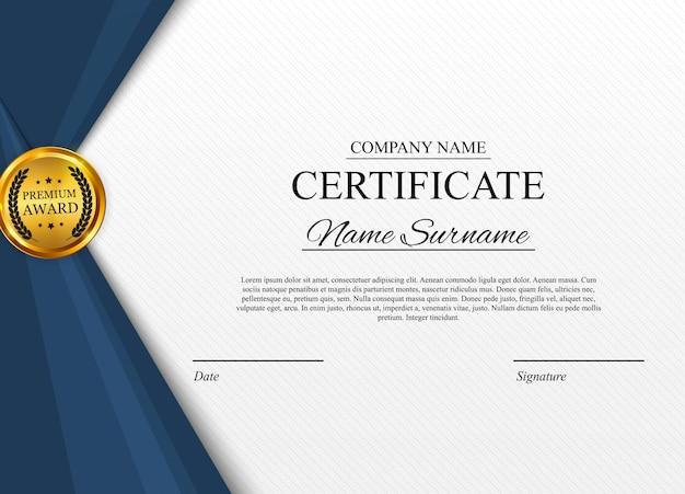Certificaatsjabloon. award diploma leeg.