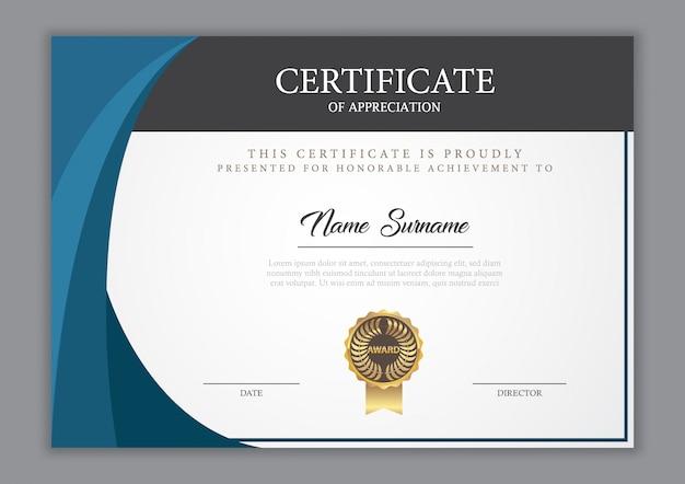 Certificaatsjabloon diploma, vectorillustratie