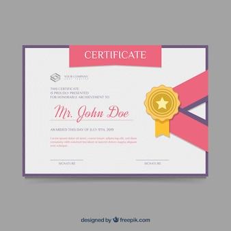 Certificaatsjabloon in vlakke stijl