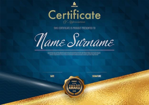 Certificaatsjabloon luxe en diploma stijl