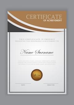 Certificaatsjabloon luxe ontwerp met tekstelement, diploma