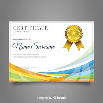 Certificaatsjabloon met gouden elementen