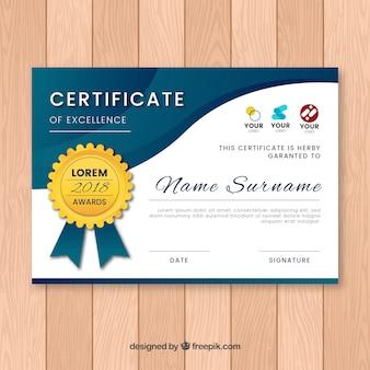 Certificaatsjabloon met vlakke vormen