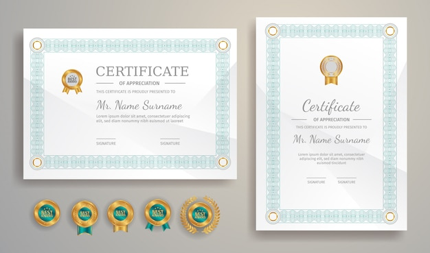 Certificaatsjabloon voor het afdrukken van documenten