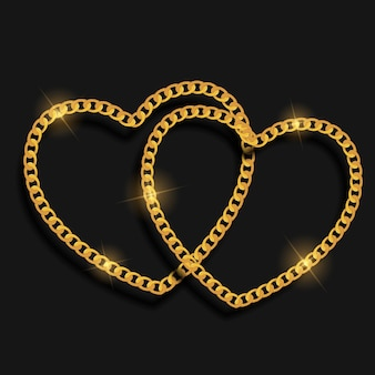 Chain heart love achtergrond.