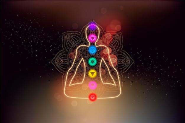 Chakra's concept met lichaam en focuspunten