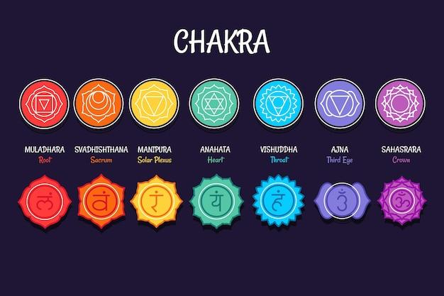 Chakra's instellen illustratie concept