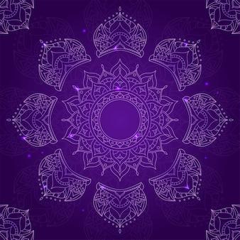 Chakra sahasrara op donkere violette achtergrond