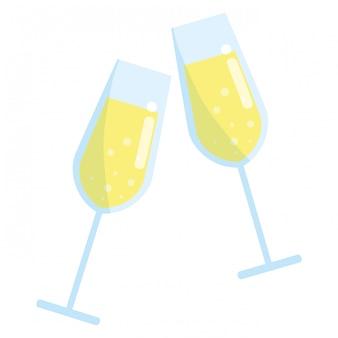 Champagne glazen ontwerp