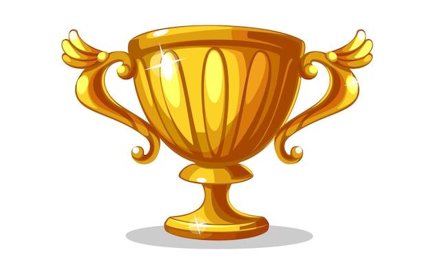 Champion gouden beker vectorillustratie