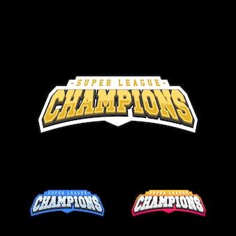 Champion sport league logo embleem badge grafische typografie