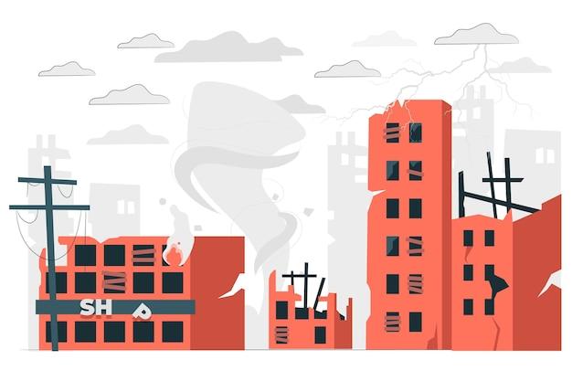 Chaos concept illustratie