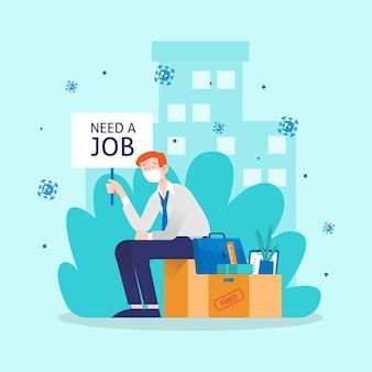 Character is op zoek naar een nieuwe baan