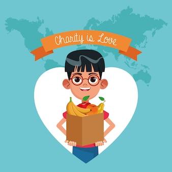 Charity is love cartoon