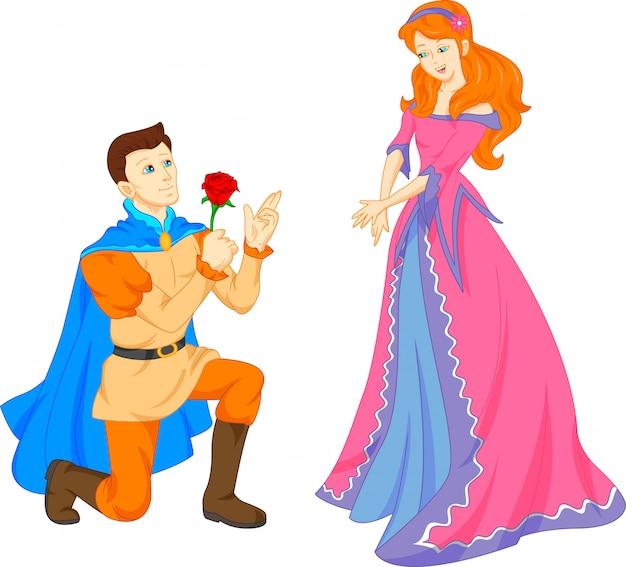 Charmante prins en mooie prinses