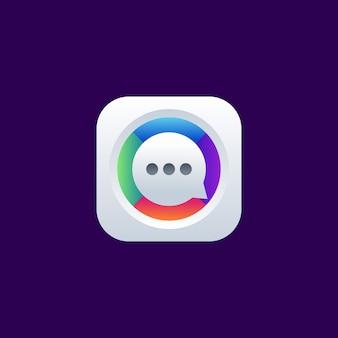 Chat app pictogram logo