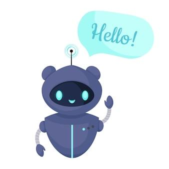 Chat bot robot geïsoleerd op wit. klantenservice. online consult.