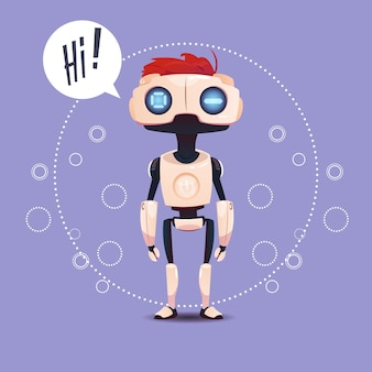 Chat bot, robot virtual assistance element of website of mobile applications, artificial intelligenc