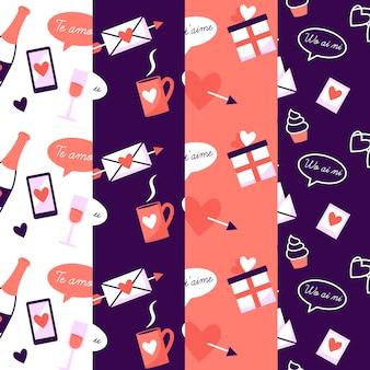 Chat bubbels en geschenken valentijn patroon