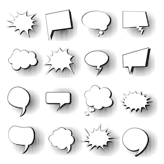 Chat bubble icon set