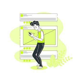 Chat concept illustratie